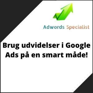 Brug udvidelser i Google Ads på en smart måde